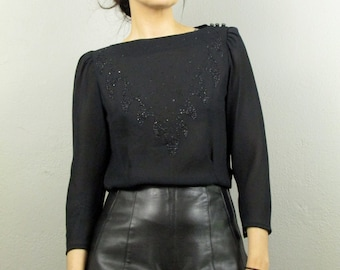 Vintage 90's High Waist Black Leather Tap Shorts
