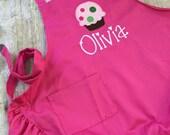 Child Apron, Cupcake Apron, Personalized Child Apron, Pink Ruffle Apron, Apron for Girl, Kids Apron, Toddler Apron, Monogrammed Apron