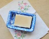 Blue and White Soap Dish, Stangl Ceramic Soap Dish,  Stangl Ceramics, Country Blue, Farmhouse Decor, Bathroom Kitchen Soap Dish