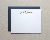 Letterpress Personalized Stationery - Letterpress Custom Note Cards- Personal Stationery
