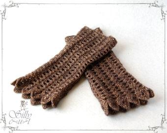 crochet cuffs - Golden Times - victorian, romantic, elegant, golden, gold, brass, black, scalloped, autumn, fall, winter2015