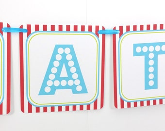 Name Banner - Made to Match Circus Party Birthday Banner