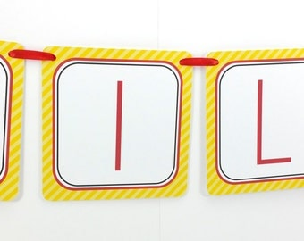 Name Banner - Made to Match Fire Truck Party Birthday Banner