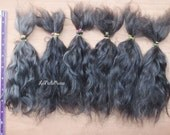 gray Doll Hair extra long Combed Mohair 8 in natural colored organic mohair goat/ reroot/  Reborn