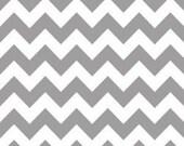 Riley Blake Medium Chevron Fabric in Gray -- 1 yard