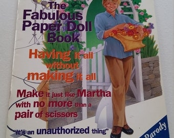 Mad About Martha Stewart Paper Doll Book/ Collectable
