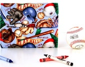 Play Ball Deluxe Crayon Wallet, Ready to ship, Includes crayons and paper pad, Crayon holder, Toddler toy, Art wallet, Coloring toy