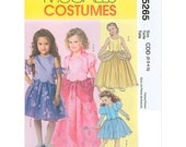 Sew & Make McCall's M5265 SEWING PATTERN - Girls Fairy Princess Costumes sz 6-8