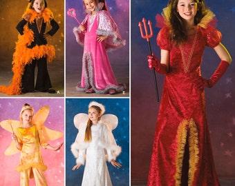Sew & Make Simplicity 2861 SEWING PATTERN - Girls Princess Angel Witch Costumes sz 3-6