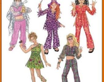 Sew & Make Simplicity 4466 SEWING PATTERN - Girls Costumes Hippie Witch Genie sz 7-14
