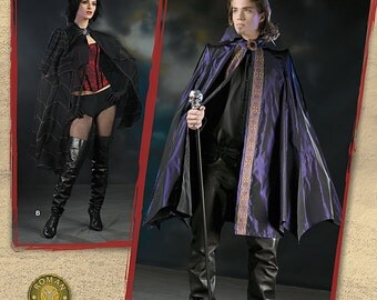 Sew & Make Simplicity 2529 SEWING PATTERN - Adult Vampire Goth Costume Capes size xsm-med