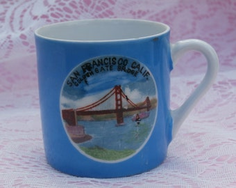 San Francisco, Golden Gate Bridge Vintage Souvenir Demitasse Cup