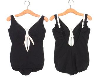 50s Swimsuit * Vintage 1950s Maillot * Bombshell Swim Suit * Small / Medium