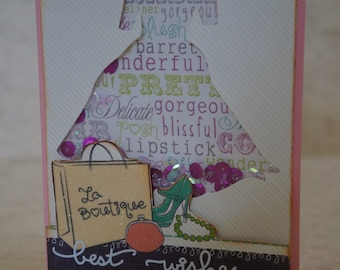 One Best Wishes Shaker Box Card