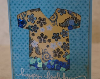 One Happy Birthday Shaker Card