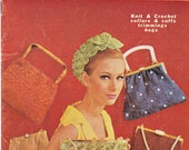 Myart Book 2 Vintage 60s Knitting Crochet Patterns Booklet Straw Handbags Purses Collars & Cuffs Trimmings Headbands ORIGINALS NOT PDF