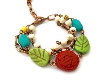 Ani Copper Bracelet, Beaded Bracelet, Best Friend Gift, Gift Ideas, Natural Stone Bracelet, Handmade Bracelet