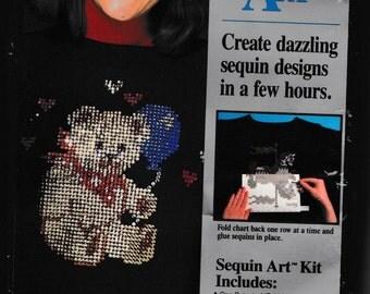 Teddy With Balloon Sequin Art No. 33225 Create dazzling sequin designs