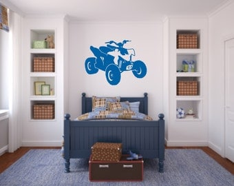 ATV Four Wheeler Vinyl Wall Decals - 4 Wheeler Quad ATV Decal - Boys Room Vinyl Wall Decal -ATV Decal - Quad Wall Decal