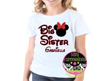 Big Sister Sister Shirt or onesie Personalized just for your pregnancy announcement Tshirt