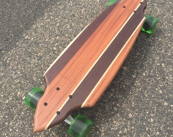"Mini Cruiser Skateboard  -  ""Wildwood"" Solid Wood Board"