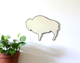 Buffalo Mirror Bison Wall Mirror Wall Art Cabin Hunting Lodge Decor South West Western