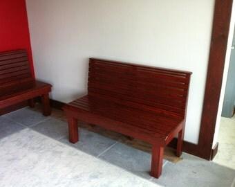 Solid Red Oak Bench Heavy Duty 4' long