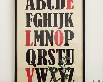 Alphabet LOVE Poster