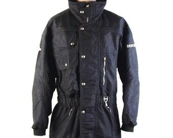 Men's Black Descente Ski Jacket, Men's Size Large, Impeccable Condition