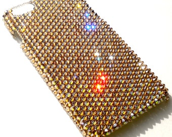 """For iPhone 6 (4.7"""") - Luxury Gold - Crystal Golden Shadow - Crystals from SWAROVSKI Diamond Rhinestone BLING Back Case"""