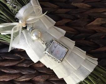 Wedding Bouquet Photo Charm - Pearl and Rhinestones