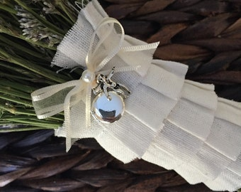Bouquet Locket Charm - Angel
