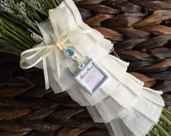 Bouquet Charm - Petite Two Sided with Something Blue