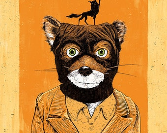 "Fantastic Mr. Fox's ""Fox Yeah!"" - 12x18 Officially Signed, Dated and Hand-Stamped Art Print"
