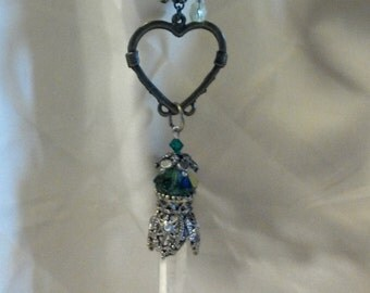 Quartz Crystal Necklace...Crazy lil' thing Called Love....