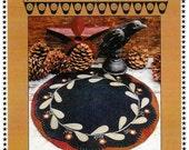 Wool Applique Pattern, Redware Flower Table Mat, Primitive Gatherings PATTERN ONLY
