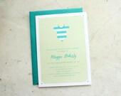baby shower invitation - onesie (baby girl, baby boy or gender neutral)
