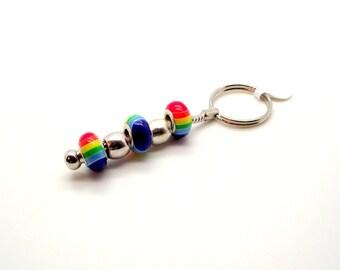 Key Chain - Colors of the Rainbow II Beaded Key Chain