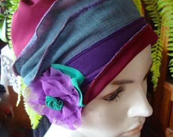 Womens chemo Hat chemo headwear chemo Headcover womens chemo gift  Purple