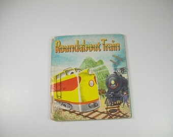 Vintage Book Roundabout Train 1958 Whitman Childrens Story