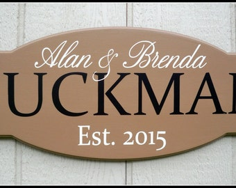 Last name sign, family name sign, custom sign, name sign, family sign, name plate, family established sign, wedding sign, first name sign