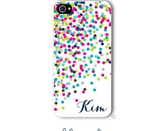 Confetti Phone Case Monogram iPhone 6 Case iPhone 6s Case Samsung Galaxy S5 S6 Case iPhone 5 Case iPhone 6 Plus Case iPhone 5c Style 190