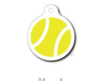 Pet Tag - Pet ID Tag - Dog Tag - Cat Tag - Lunch Box Tag - Bag Tag - Luggage Tag - Personalized Tennis Ball Tag