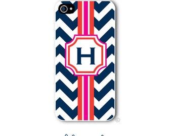 Personalized iPhone Case Custom Monogram Case iPhone 4 5 5s 5c 6 6s 6 Plus, Samsung Galaxy S4 S5 S6 Tough Phone Case Chevron Style 262a