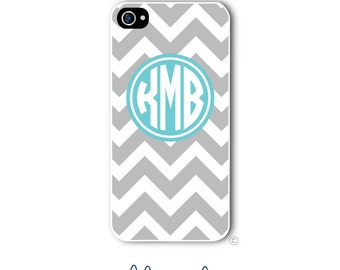 Personalized iPhone Case Custom Monogram Case iPhone 4 5 5s 5c 6 6s 6 Plus, Samsung Galaxy S4 S5 S6 Tough Phone Case Chevron Style 208