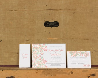 Rustic French Country Wedding Invitations,Pastel French Country Invitation,Rustic Country Wedding Invite,Rustic Boho Floral Wedding Invites