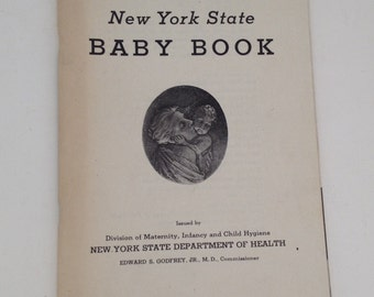 Vintage New York State Baby Book 1940s Dept of Health Booklet