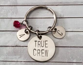 True Crew - Best Friends Keychain, Group, Gift, Initials, BFF, True Friends