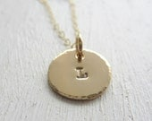 Minimal Necklace. Gold Circle Necklace. Personalized Small Disc Necklace. Monogram Necklace. Dainty Tags. Initial Necklace. Mothers Day Gift