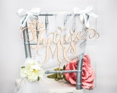"""Bridal Shower Sign for Bride """"The Future Mrs"""" Chair Sign Bridal Shower Decor or Wedding Day Sign (Item - FMR100)"""